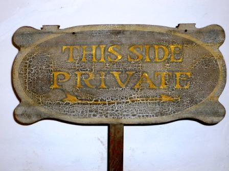 Collections Highlight: Sign from the Casa de la Guerra Porch