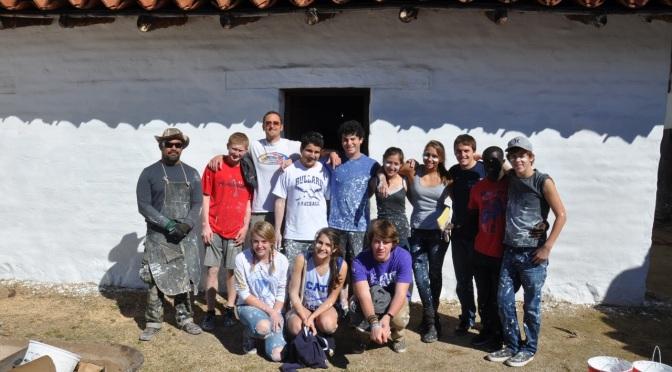 Cate School Volunteers Touch Up Presidio's Northeast Corner