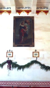 Saint Barbara at the Presidio Chapel. Photo by Anne Petersen.