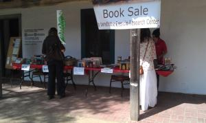 Weekend book sale at the Presidio Visitor Center at 123 East CAnon Perdido Street.  We hope to see you soon!  Photo by Stephanie Byrd.