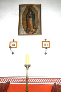 Our Lady of Guadalupe at the Presidio Chapel. Photo by Jarrell C. Jackman,