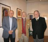 SBTHP Life Honorary Member Garvan Kuskey, Artist and writer Richard Perry, and SBTHP Board President John Poucher.