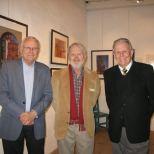 SBTHP Life Honorary Member Garvan Kuskey, Artist and writer Richard Perry, and SBTHP Board President John Poucher.