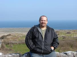 Graduate Student Thomas Tolley, in Inis Mor Ireland. Photo courtesy of Thomas Tolley.