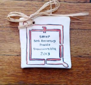 Commemorative tile created by Jeannie Davis.