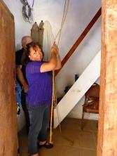 Suzi Calderon Bellman in the Presidio bell tower.
