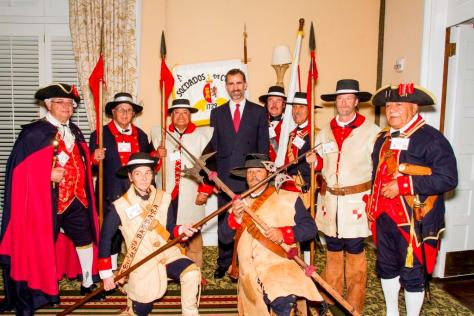 Los Soldados real Presidio pose with Prince Felipe at the Biltmore, November 2013. Photo by Clint Weisman.