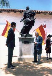 Prince Felipe (left) and Paul Mills at El Presidio SHP in 1995.