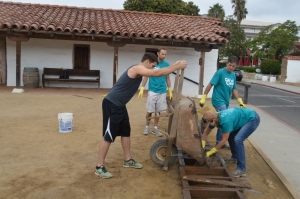 Making adobe bricks. Photo by Brittany Sundberg.