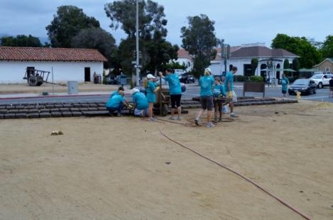 Making adobe bricks. Photo by Brittany Sundberg.