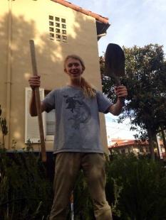 Sam broke the shovel.