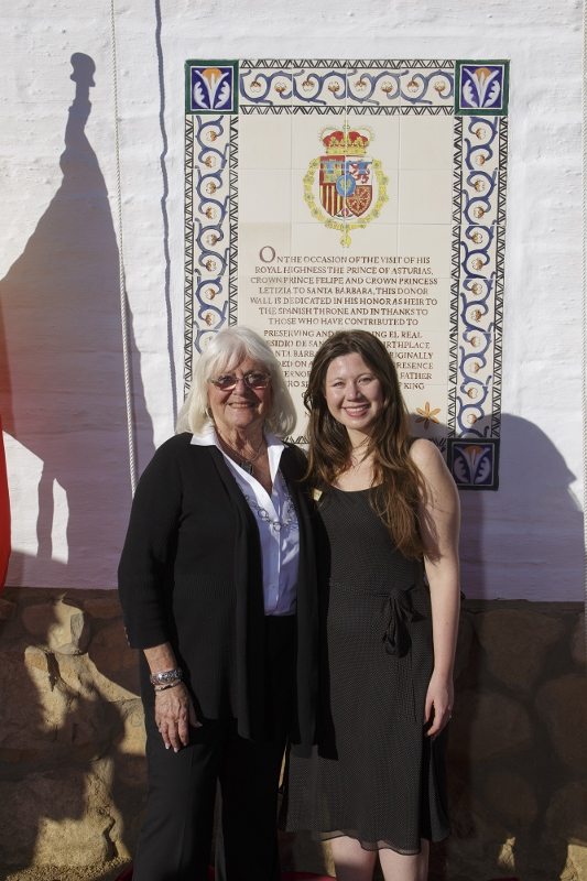 SBTHP Unveils the Prince's Plaque and New Donor Wall for El Presidio SHP!