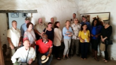 Park Commissioners inside El Cuartel at El Presidio SHP. Photo by Mike Imwalle.