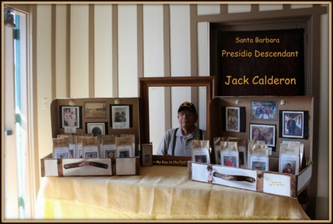 Jack Calderon at the descendant's photo booth put together by Suzi Calderon Bellman for the luncheon. Photo by Suzi Calderon Bellman.