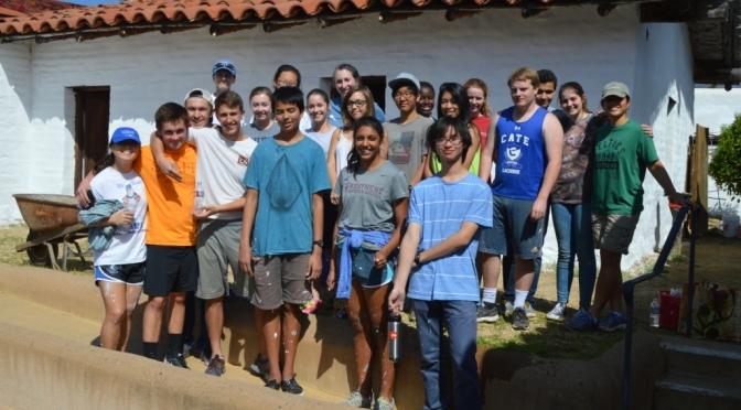 Cate School Volunteer Day at El Presidio de Santa Barbara State Historic Park February 29, 2016