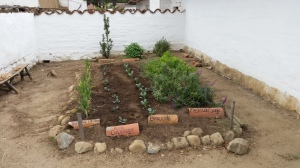 Vegetables with new tile labels at the Northeast Corner of the Presidio. Photo by Mike Imwalle.