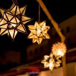 Estrellas decorate the Casa de la Guerra Courtyard. Photo by Clint Wesiman Studio.
