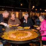 The paella is served. Photo by Clint Wesiman Studio