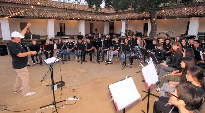 SBTHP Hosts Dos Pueblos Concert Band at Casa de la Guerra for May 1st Thursday Event